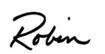 Robin Blackburn McBride first name signature
